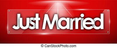 単語, ただ結婚した, 形, ガラス, 透明