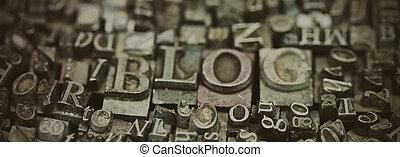 単語, の上, typeset, blog, 終わり, 手紙