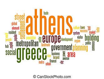 単語, アテネ, 雲