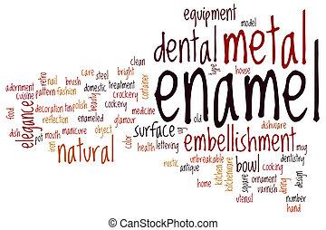単語, エナメル, 雲