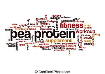 単語, エンドウ豆, タンパク質, 概念, 雲