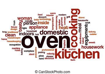 単語, オーブン, 雲