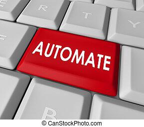単語, キー, ボタン, 結果, 即時, コンピュータ, 自動化しなさい, キーボード