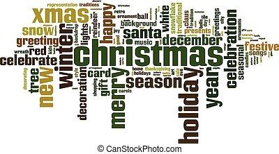 単語, クリスマス, 雲