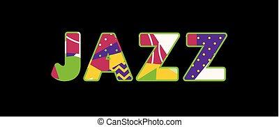 単語, ジャズ, 概念, 芸術, イラスト