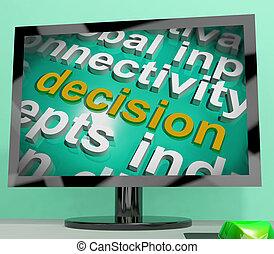 単語, スクリーン, ∥あるいは∥, 決定しなさい, 選択, 決定, 雲, ショー