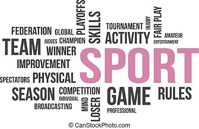 単語, スポーツ, -, 雲