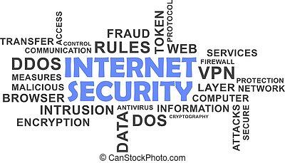 単語, セキュリティー, -, 雲, インターネット