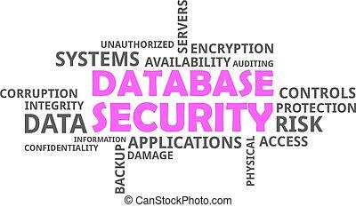 単語, セキュリティー, -, 雲, データベース