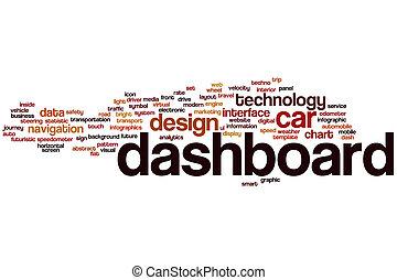 単語, ダッシュボード, 雲