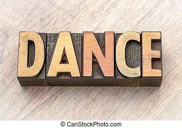 単語, ダンス, 抽象的, -, 木, タイプ