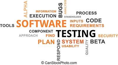 単語, テスト, -, 雲, ソフトウェア