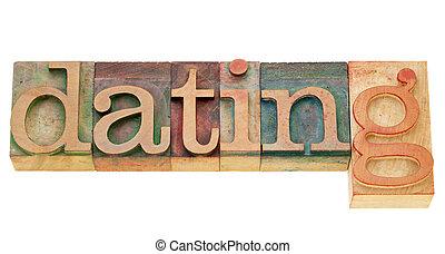 単語, デートする, タイプ, 凸版印刷