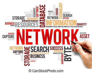 単語, ネットワーク, 雲