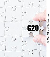 単語, パズル小片, 最後, g20
