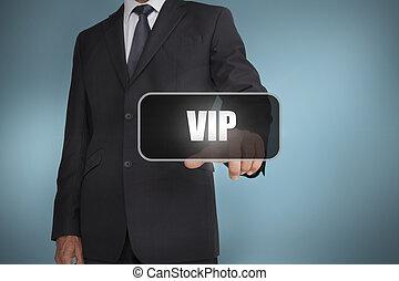単語, ビジネスマン, 感動的である, vip