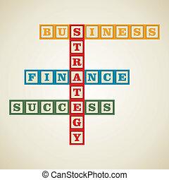単語, ビジネス, ブロック