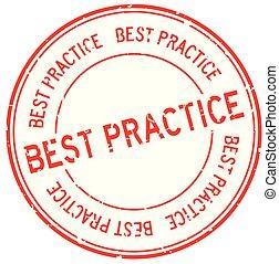 単語, ビジネス, 切手, 練習, ゴム, 最も良く, 背景, シール, グランジ, 白, ラウンド, 赤