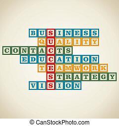 単語, ビジネス, 関係した