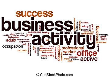 単語, ビジネス, 雲, 活動