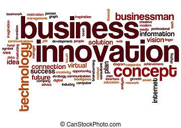 単語, ビジネス, 雲, 革新