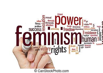 単語, フェミニズム, 雲