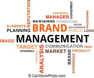 単語, ブランド, 管理, -, 雲