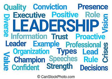 単語, リーダーシップ, 雲
