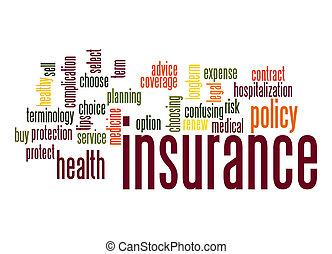単語, 保険, 雲