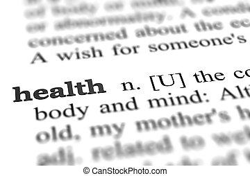 単語, 健康