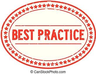 単語, 切手, 練習, ゴム, 最も良く, 背景, シール, オバール, グランジ, 白い赤