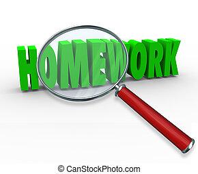単語, 割り当て, プロジェクト, ガラス, レッスン, 拡大する, 宿題