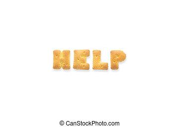 単語, 助け, アルファベット, クッキー, 手紙, ビスケット