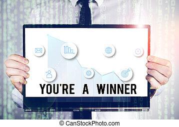 単語, 勝利, 場所, 第1, テキスト, あなた, 執筆, ビジネス, チャンピオン, ∥あるいは∥, 概念, competition., レ, winner.
