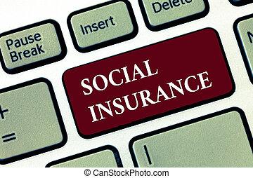 単語, 執筆, テキスト, 社会, insurance., ビジネス 概念, ∥ために∥, 保護, の, ∥, 個人, に対して, 経済, 危険