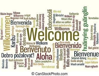 単語, 多数, 歓迎, 言語, タグ, 雲