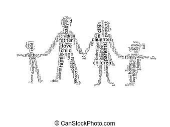 単語, 家族, 雲
