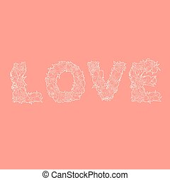 単語, 愛, 赤