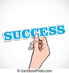 単語, 成功, 手