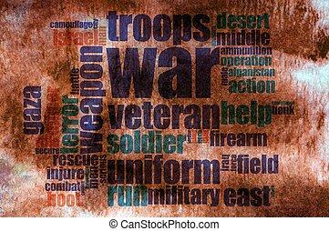 単語, 戦争, 雲