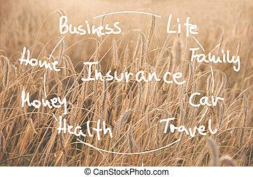 単語, 手書き, 保険