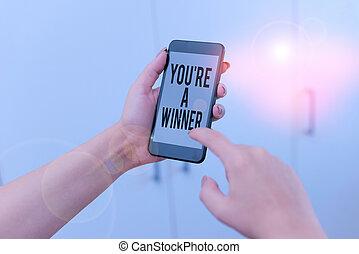 単語, 技術的である, 供給, オフィス, 場所, テキスト, 装置, 執筆, 勝利, ∥あるいは∥, チャンピオン, winner., 中, あなた, 使うこと, 女, home., ビジネス, 競争, smartphone, 第1, 概念, レ