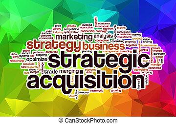 単語, 抽象的, 戦略上である, 獲得, 背景, 雲