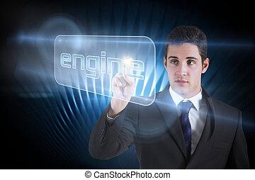 単語, 指すこと, エンジン, ビジネスマン