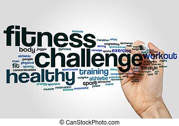 単語, 挑戦, フィットネス, 雲