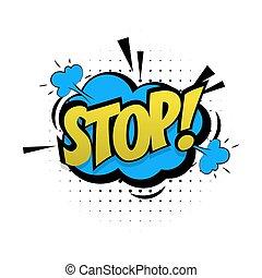 単語, 止まれ, ポンとはじけなさい, 緑, 効果, 芸術, 漫画