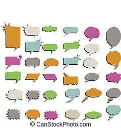 単語, 漫画, イラスト, 考え, ベクトル, 泡