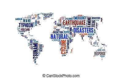 単語, 災害, 背景, 雲, 自然