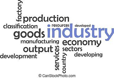 単語, 産業, -, 雲