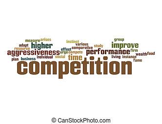 単語, 競争, 雲